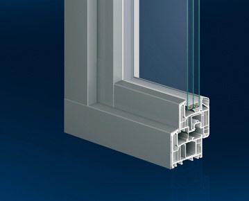 Kunststofffenster mit Aluschale